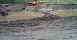Lucrari pe teren - construirea locului pentru primele bazine