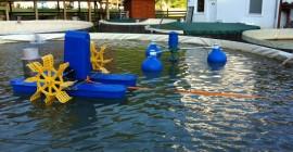 Aerator piscicol cu 3 plutitoare